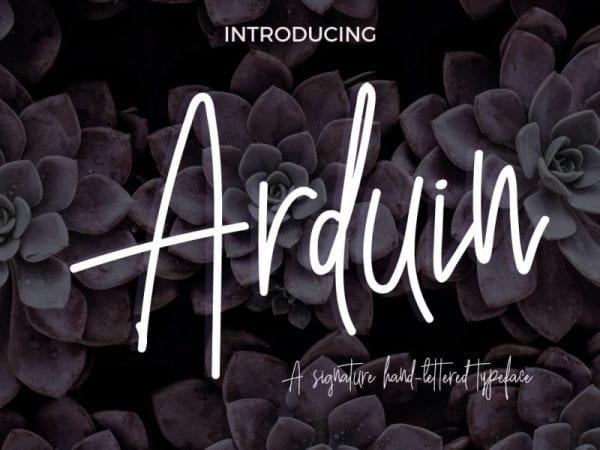 Arduin Handwritten Script Font