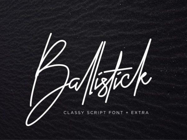 Ballistick - Handwritten Signature Font