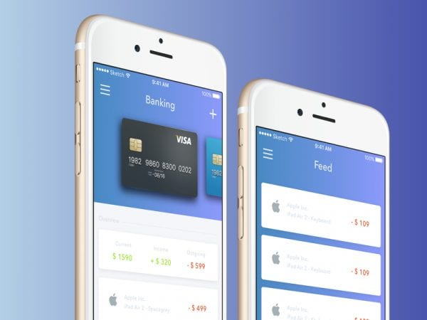 Banking App UI Design In PSD