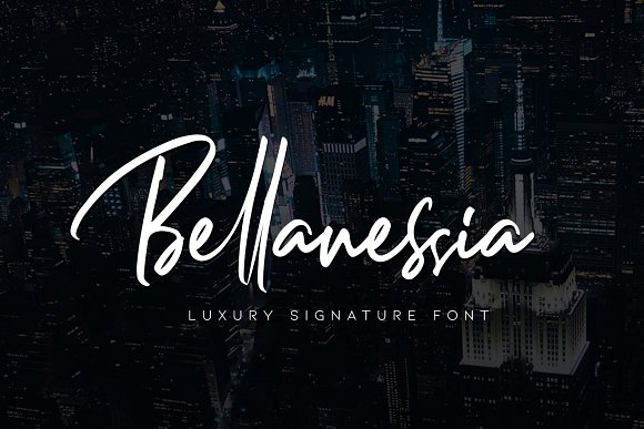 Bellanessia Handwritten Signature Font