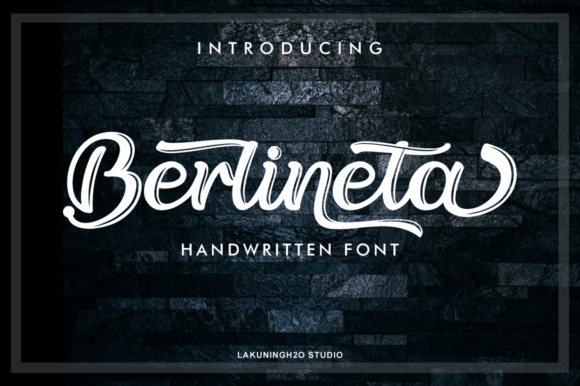 Berlineta Beautiful Calligraphy Brush Script Font