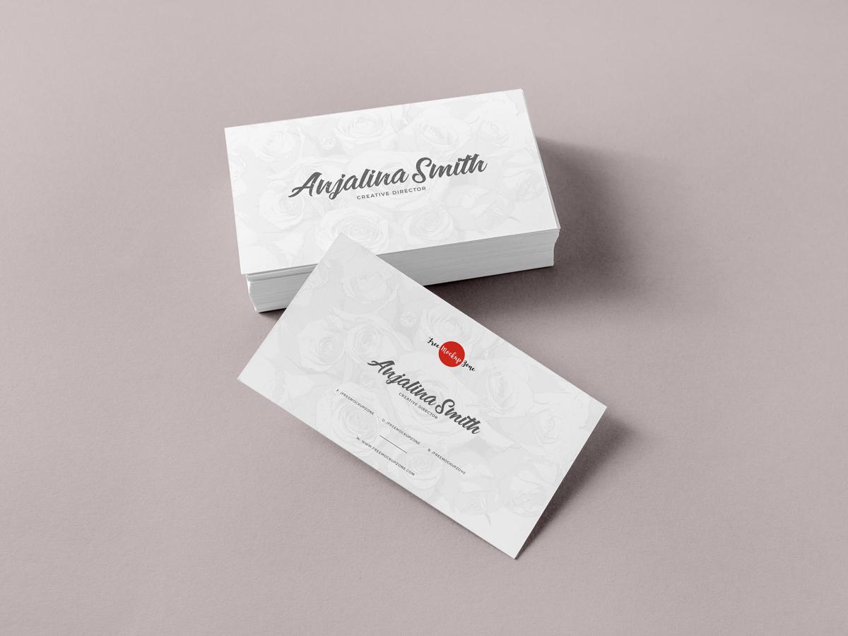 brand business card mockup psd template  mockup free