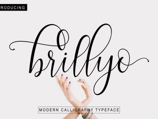 Brillyo Modern Calligraphy Font 1
