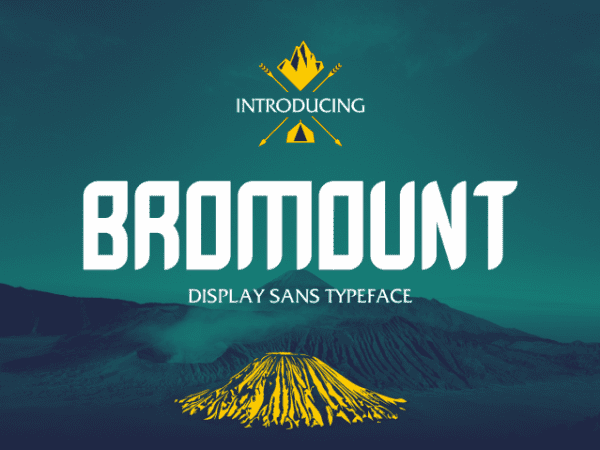 Bromount Display Sans Serif Font