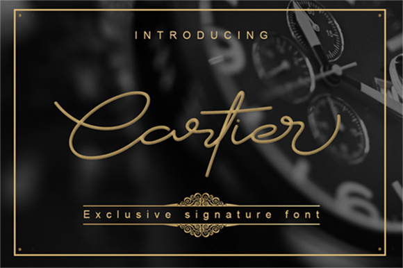 Cartier Hand Lettering Script Fonts