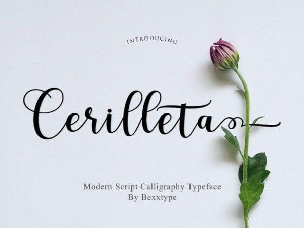 Cerilleta Handwritten Calligraphy Script Font