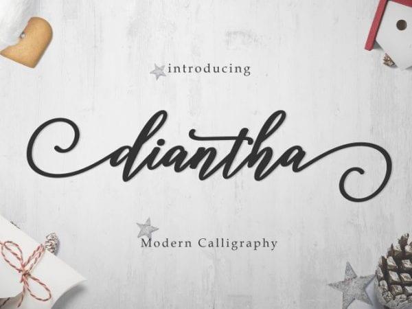 Diantha Calligraphy Script Font