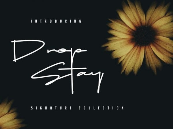 Drop Stay Handwritten Signature Font