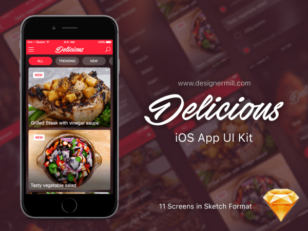 Eat App Design In PSD