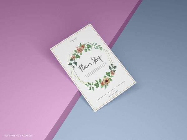 Elegant Flyer MockUp Free PSD Template