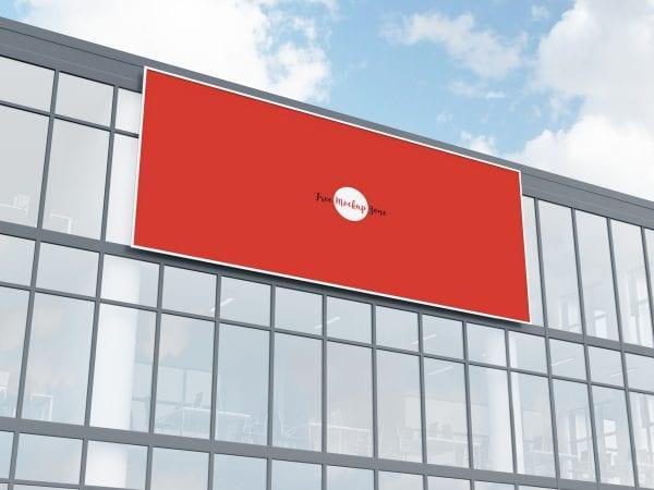 Facade Billboard Mockup PSD Free Template