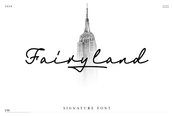 Fairyland Handwritten Signature Font