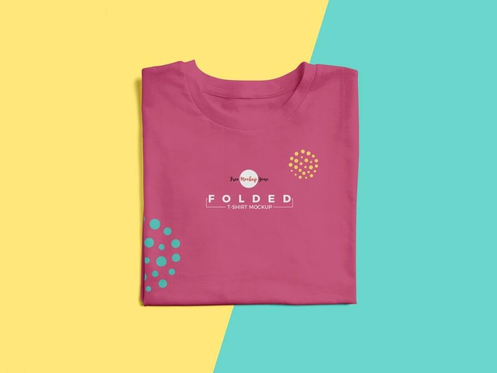 Folded T shirt Mockup PSD Template