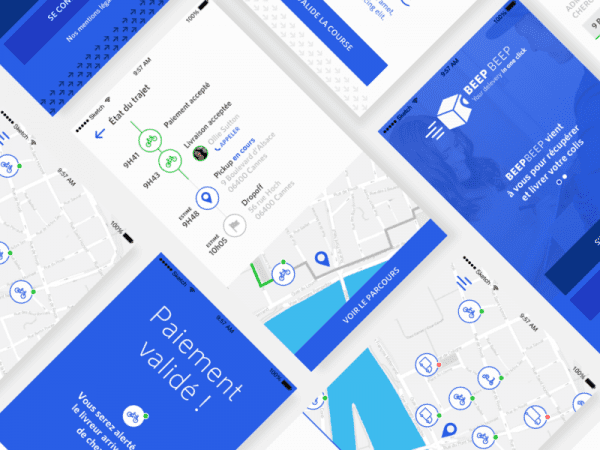 Free Delivery App Design In PSD