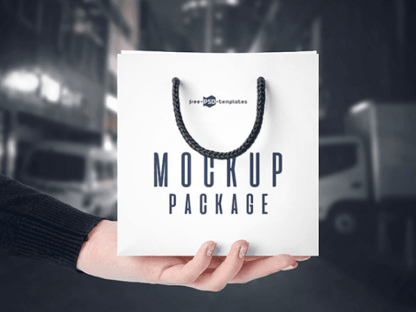 Free Modern Bags Mockup PSD Template