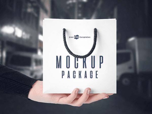Free Modern Bags Mockup PSD Template