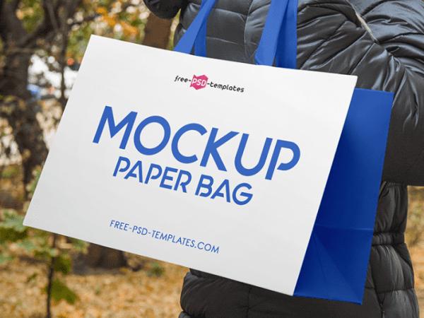 Free Paper Bag PSD MockUp Templates