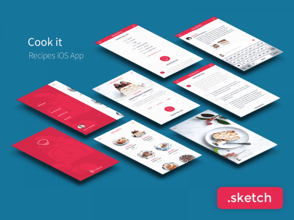 Free Recipe App UI Kit