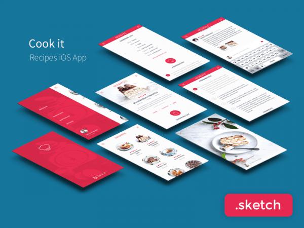 Free Recipe App UI Kit