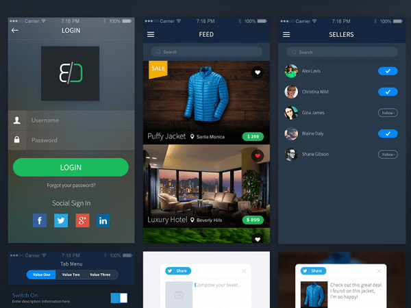Free Sales App Design In PSD