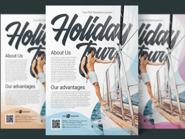 Holiday Tour Flyer PSD MockUp Template