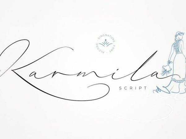 Karmila Free Handwritten Signature Font
