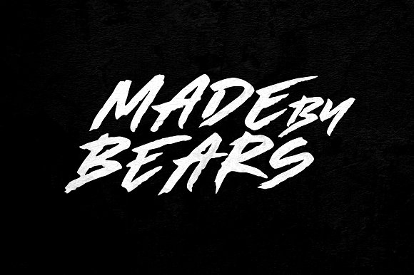 Made By Bears Hand lettering Brush Font