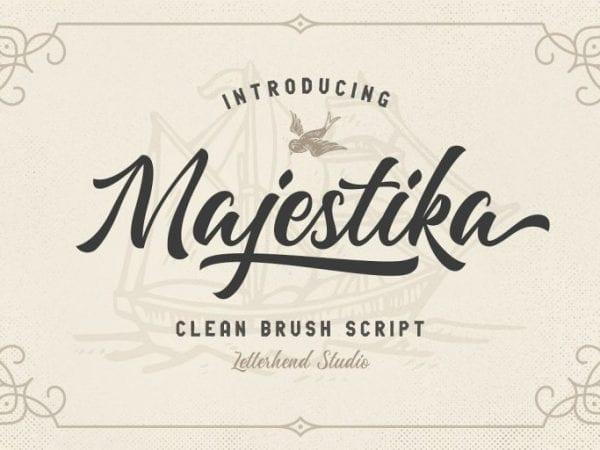 Majestika Handwritten Brush Script Font