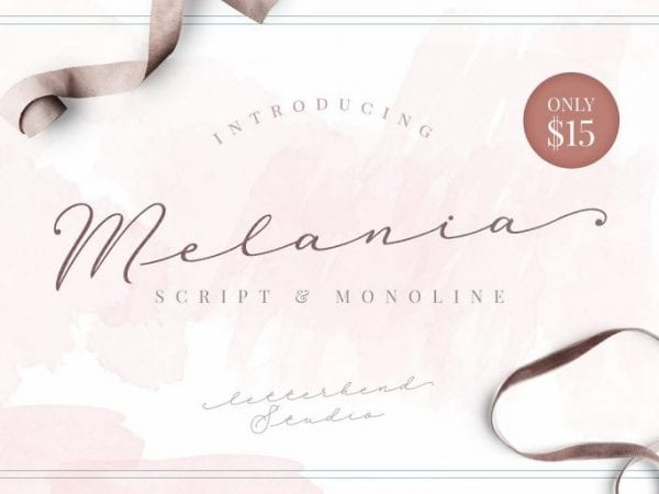Melania Handwritten Signature Font