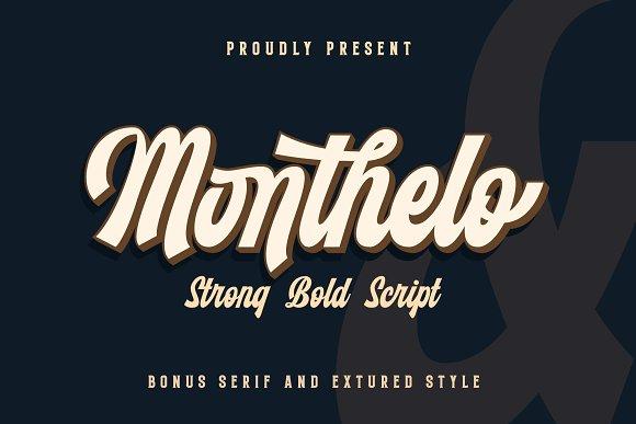 Monthelo Free Retro Vintage Font