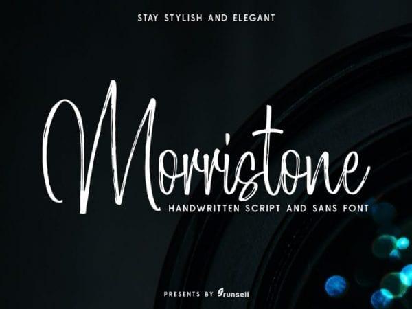 Morristone Free Brush Script Font