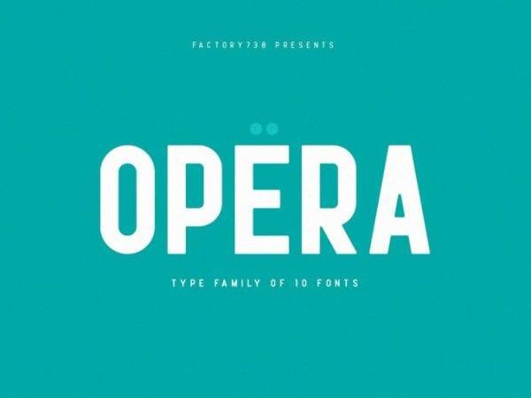 Opera Free Sans Serif Typeface