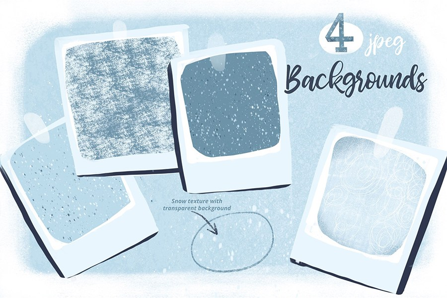 Pack Of 4 Free Snow Texture