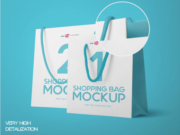 Photorealistic Shopping Bag MockUp Templates