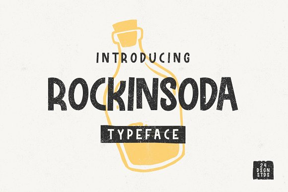 Rockinsoda Unique Display Font