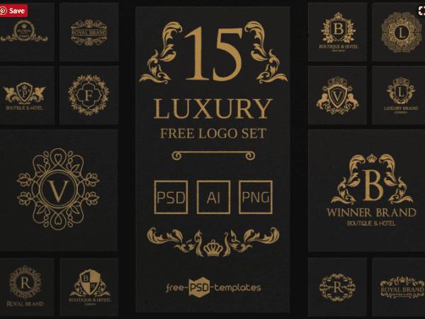 Set Of Fee Luxury Logo Templates