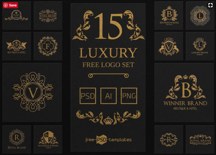 set of free luxury logo templates mockup free downloads