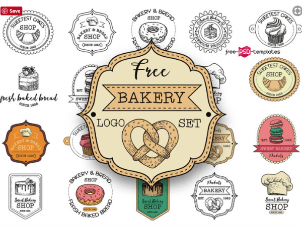 Set Of Free Bakery Logo Templates