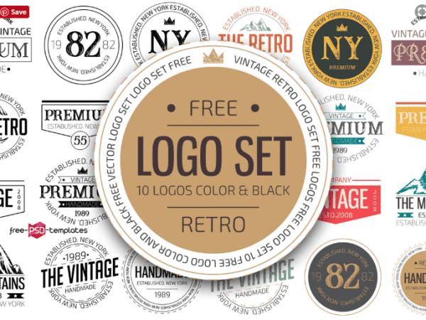 Set Of Free Retro Logo