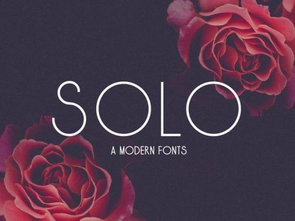 Solo Sans Serif Typeface