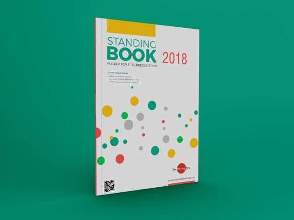 Standing Book Mockup PSD Template
