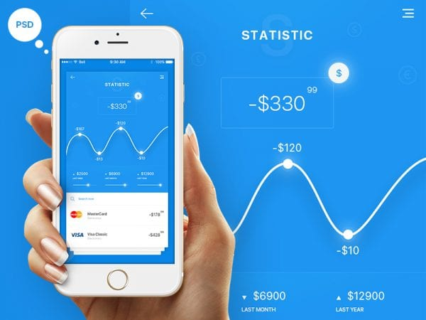 Statistics App Design In PSD