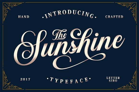 Sunshine Elegant Calligraphy Script Font