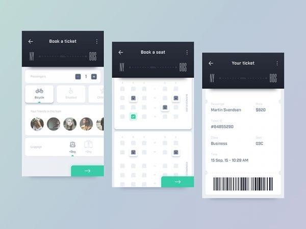 Trip Guide App Design In PSD