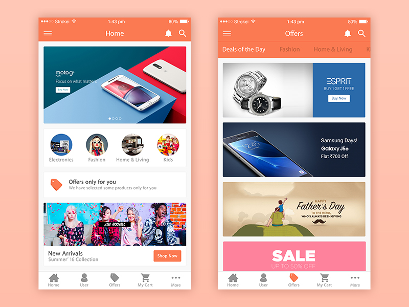 Ecommerce iphone app design in psd mockup free downloads - Free home design app ...