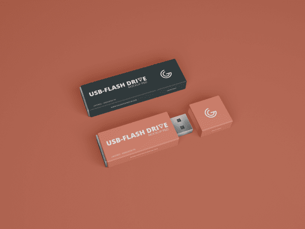 Amazing USB Flash Drive MockUp PSD Template
