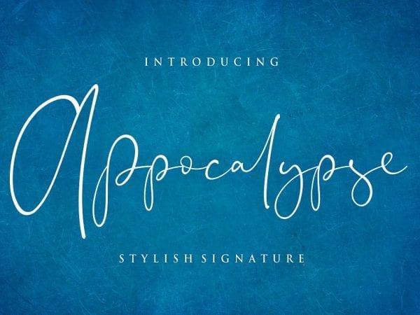 Appocalypse Handwritten Signature Font