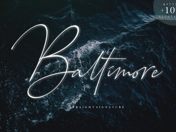 Baltimore Handwritten Signature Font