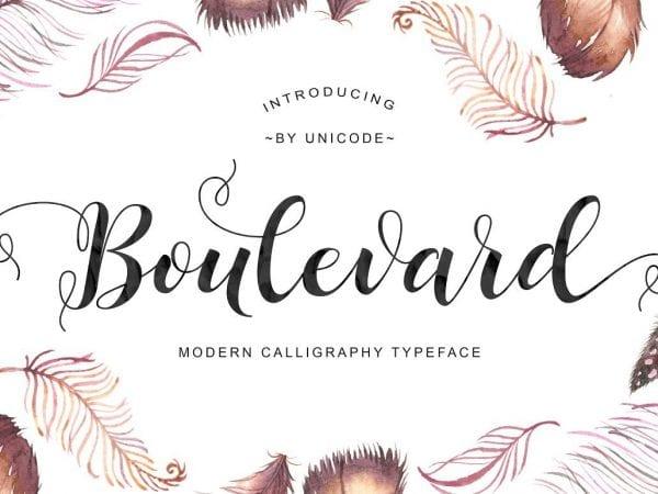 Boulevard Calligraphy Script Font 1