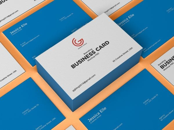 Branding Business Card Mockup PSD Template